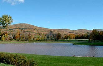 maple crest lake in the catskills image